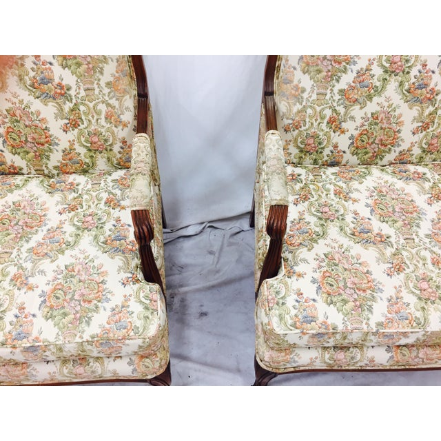 Vintage French Style Arm Chairs - A Pair - Image 7 of 11