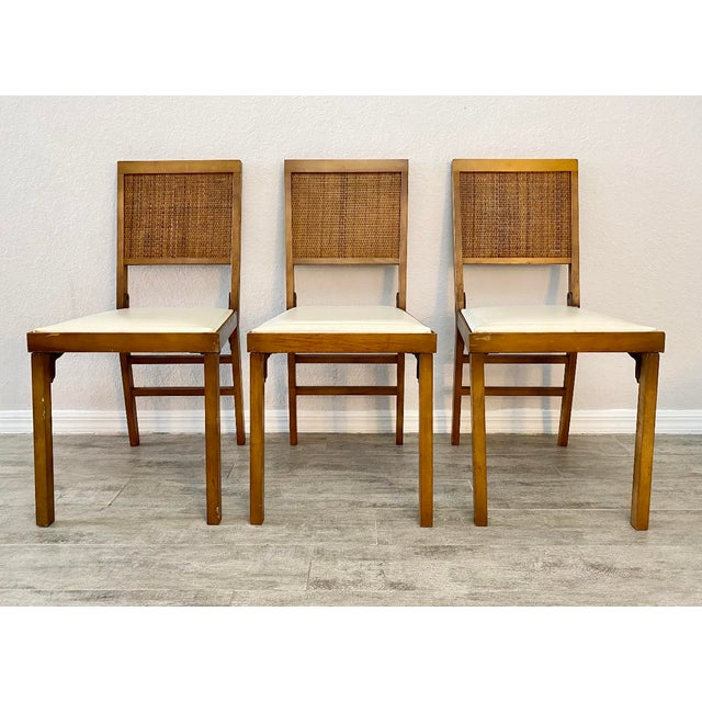 Mid Century Modern Leg-O-Matic Folding Chairs - Set of 3 For Sale In Naples, FL - Image 6 of 6