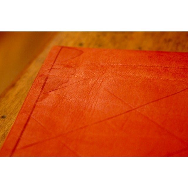 Gold Stamped Moroccan Leather Book Covers - A Pair - Image 11 of 11