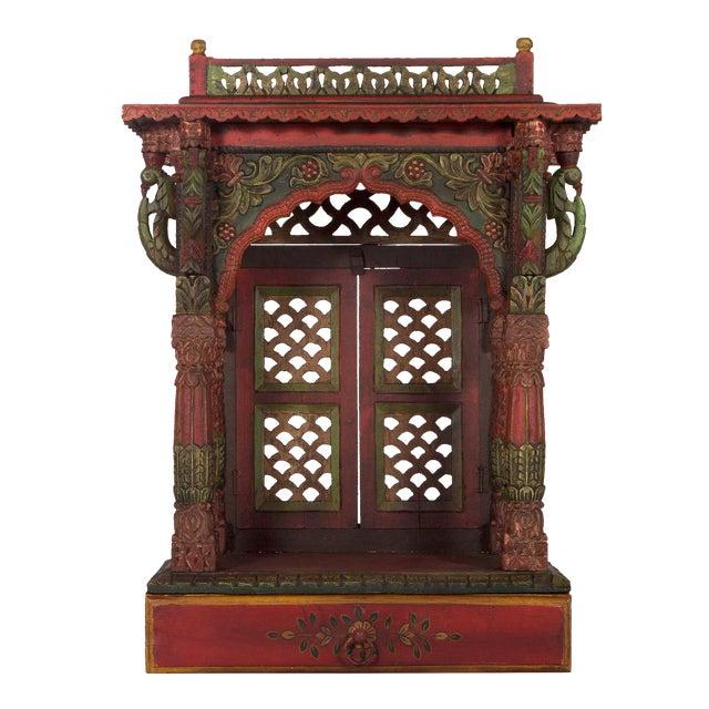 Teak Wood Hand Painted Pooja Mandir Home Temple Mandapam