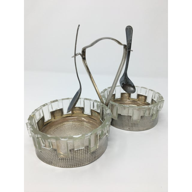 Art Deco Silver Plated Double Candy Dish For Sale - Image 9 of 9