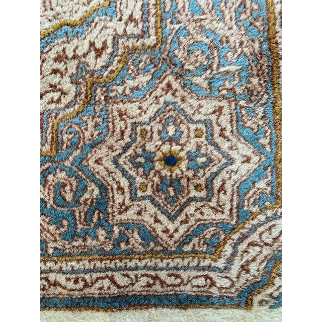 "Textile 1970s Vintage Ivory Persian Tabriz Rug - 5' x 5'5"" For Sale - Image 7 of 13"