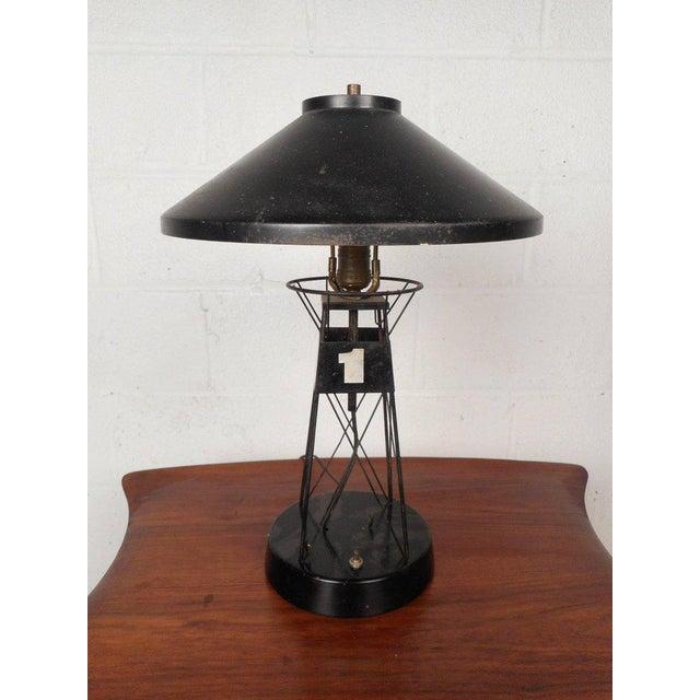 Vintage nautical metal lighthouse table lamp chairish vintage nautical metal lighthouse table lamp image 6 of 6 aloadofball Choice Image