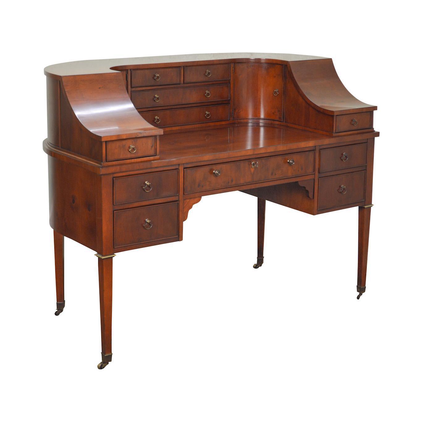 Hekman Quality Yew Wood Carlton House Desk