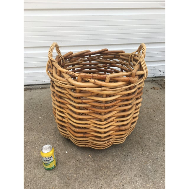 Vintage Wicker Storage Basket For Sale In Chicago - Image 6 of 6