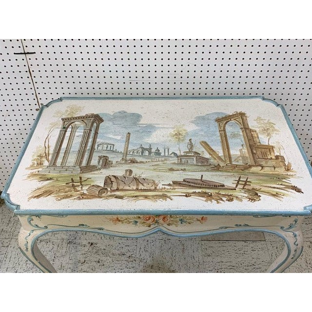 Venetian Painted Table or Desk For Sale - Image 10 of 11