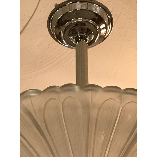 French Art Deco Chandelier by G Leleu For Sale - Image 9 of 12