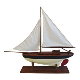 Vintage Nautical Sailing Ship/Boat Model W/Stand For Sale