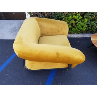 Faustine Furniture Custom Mustard Yellow Velvet Lounge Chair Preview