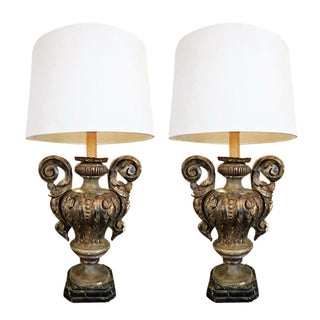 19th Century Italian Urn Lamps - a Pair For Sale