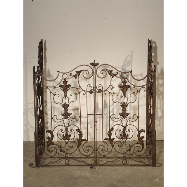 Metal Circa 1800 French Wrought Iron 4 Section Gate - A Pair For Sale - Image 7 of 12