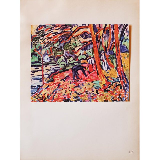 Red 1948 Maurice De Vlaminck, Landscape With Dead Wood Original Period Lithograph For Sale - Image 8 of 8