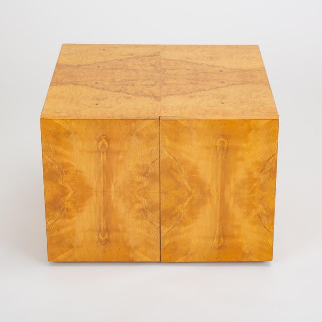 Pair of Burl Wood Side Tables or Blanket Chests For Sale In Los Angeles - Image 6 of 13