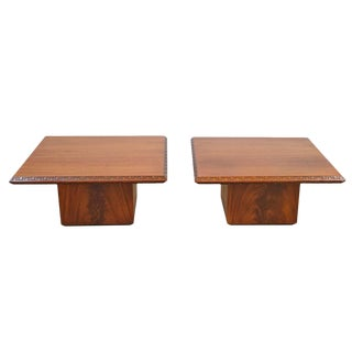 Pair of Frank Lloyd Wright End Tables for Heritage Henredon For Sale