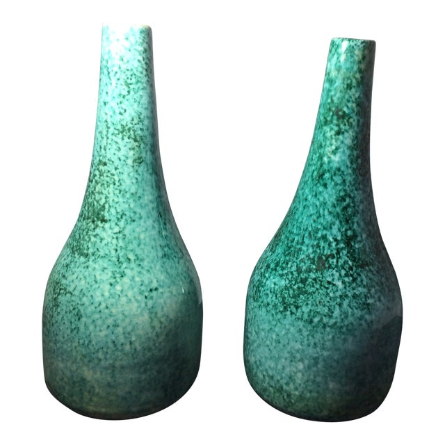 1940's Italian Baldelli Vases - a Pair For Sale