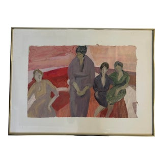 """""""""""The Women"""" 1981 Marilyn Spencer (New Orleans, 1939-2017) Acrylic on Paper For Sale"""