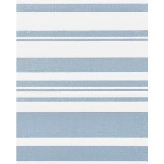Schumacher Horizon Paperweave Wallpaper in Sky For Sale