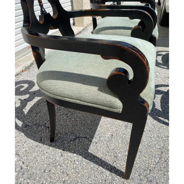 1970s Mid Century Modern Wood Dining Chairs - Set of 5 For Sale - Image 5 of 11