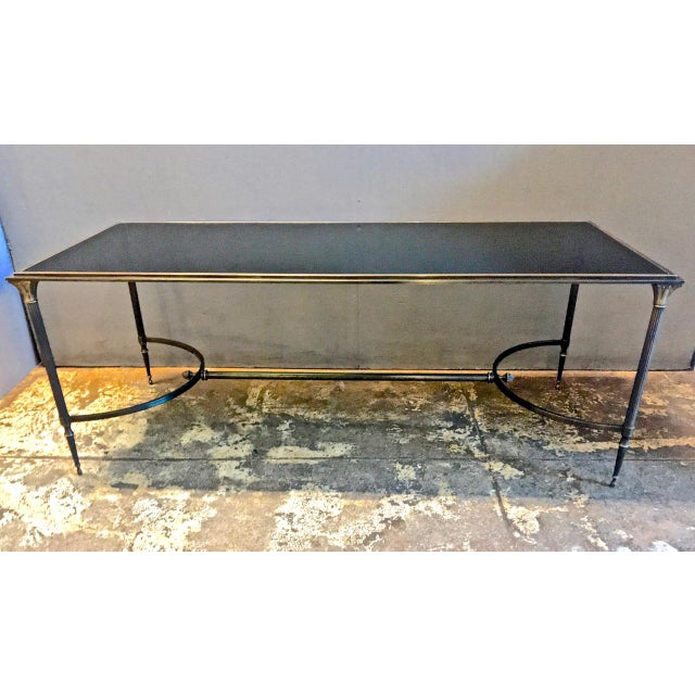 Black Maison Bagues Bronze and Glass Coffee Table, C. 1950-60 For Sale - Image 8 of 9