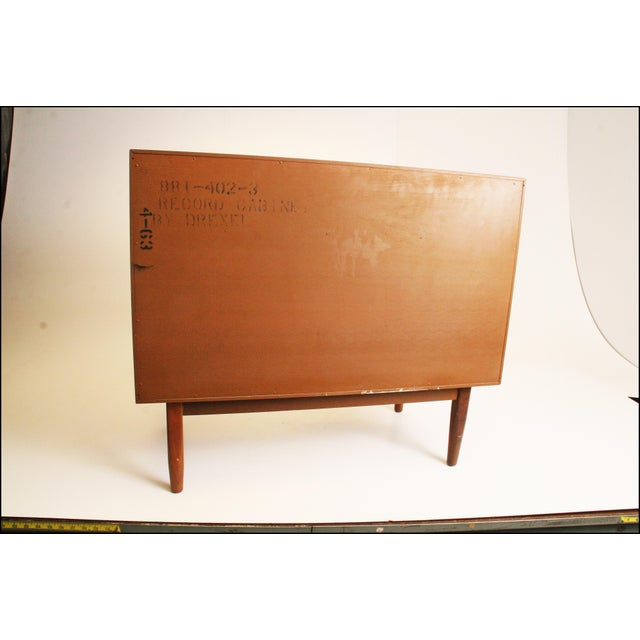 Mid-Century Modern Drexel Wood Record Cabinet - Image 10 of 11