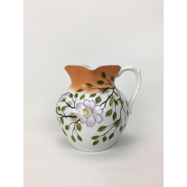 20th Century Traditional Autumn Magnolias Porcelain Pitcher For Sale In New York - Image 6 of 6