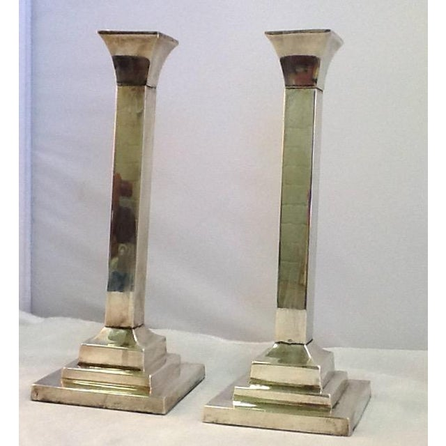 Vintage Silver Plate Candle Holders - Pair - Image 2 of 6