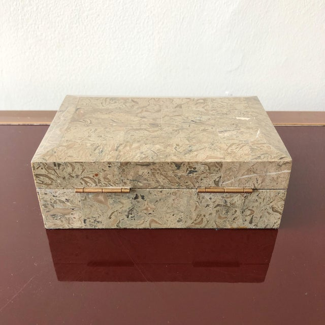 Maitland - Smith 1980s Tessellated Marble Hinged Vintage Box For Sale - Image 4 of 9