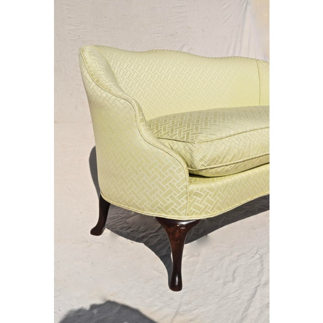 Curved Camel Back Demi Settee For Sale - Image 12 of 14