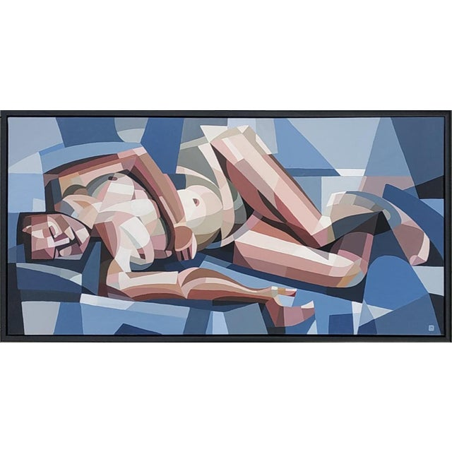 Canvas Contemporary Acrylic Painting by Andy Dobbie, La Demoiselle d'Ynys Mon For Sale - Image 7 of 7