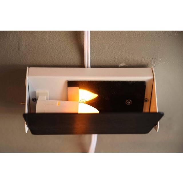 Charlotte Perriand 'Applique á Volet Pivotant' Wall Lights in Black and White For Sale - Image 9 of 12