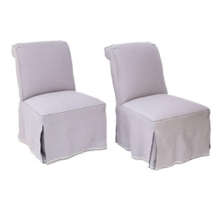Pair of French Slipper Chairs For Sale