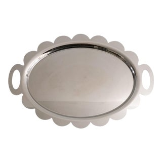 Alessi Polished Stainless Steel Recinto Tray by Mendini For Sale