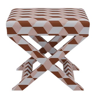 X Bench in Blush Copper Cube For Sale