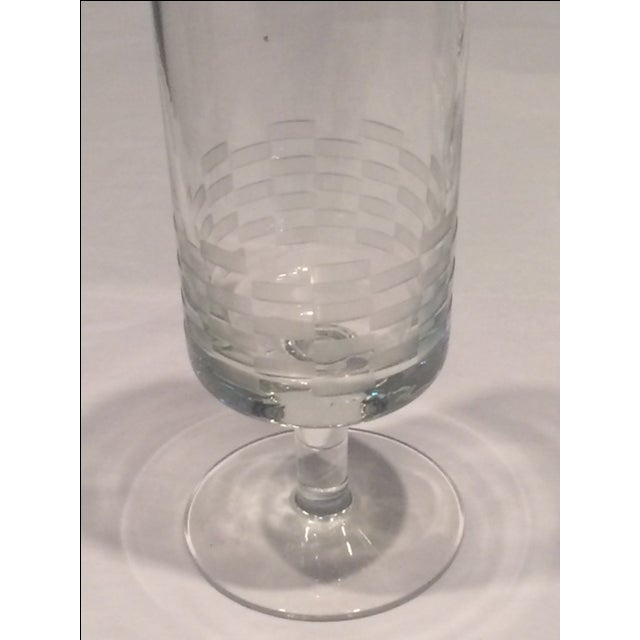 MCM Geometric Etched Champagne Flute Set - 6 - Image 4 of 8