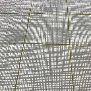 Lucas Check - Fog Grass Fabric by Ferrick Mason - 5.5 Yards For Sale