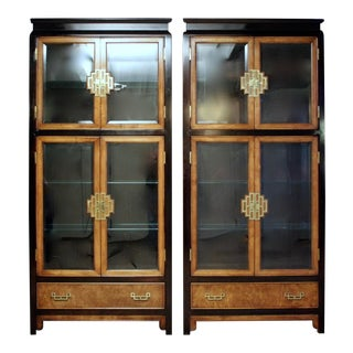 Chin Hua Chinoiserie Cabinets by Century, a Pair For Sale