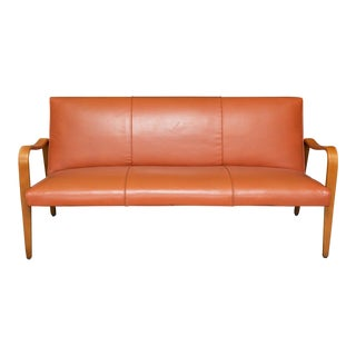 Thonet Bent Arm Leather Sofa For Sale