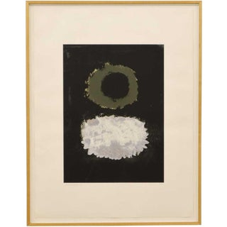 "1972 Vintage Adolph Gottlieb ""Black Field"" Serigraph Print For Sale"