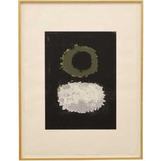 "1972 Vintage Adolph Gottlieb ""Black Field"" Serigraph Print For Sale"