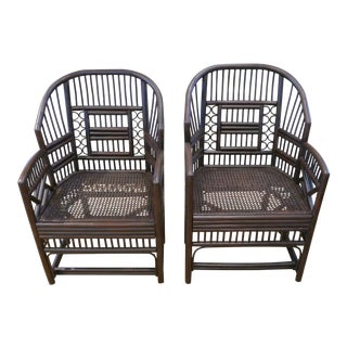 1960s Bamboo Cane Chairs - a Pair For Sale