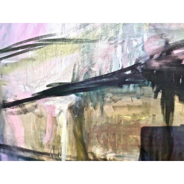 Abstract Large Scale Abstract Painting, Custom Wood Frame For Sale - Image 3 of 12