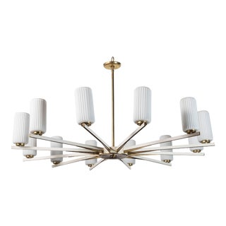 Chandelier Attributed to Stilnovo For Sale