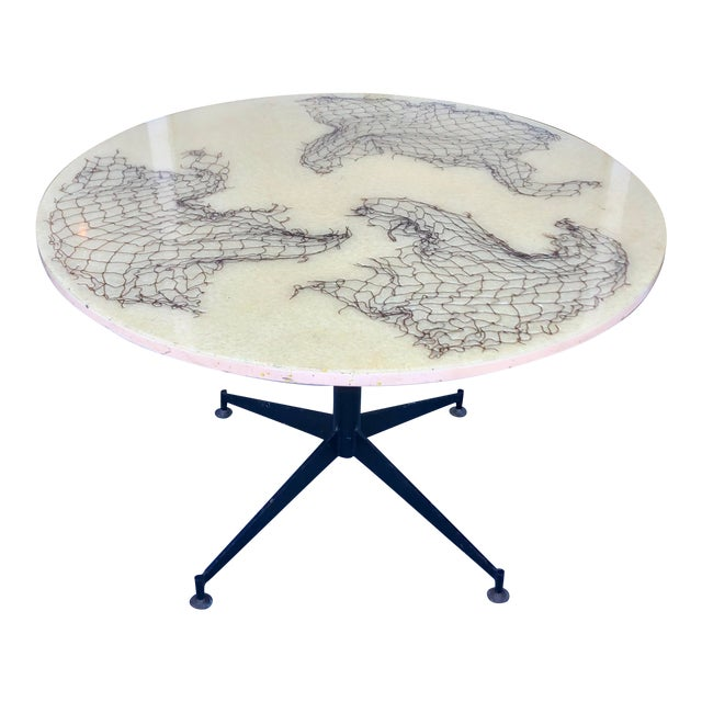 Gio Ponti Style Round Dining Table For Sale