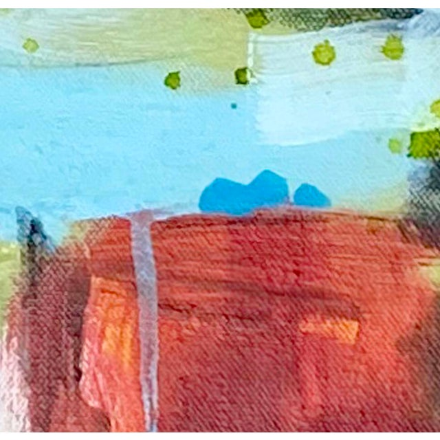 "Red ""Powder Keg"" - Original Mixed Media Abstract Painting by Gina Cochran For Sale - Image 8 of 9"
