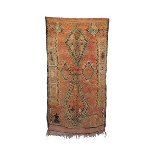 """Boujad Vintage Moroccan Rug, 5'3"""" X 9'7"""" Feet"""