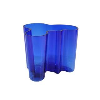 "Alvar Aalto for Iittala ""Savoy"" Cobalt Blue Glass Vase For Sale"