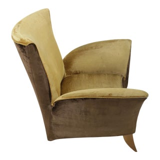 Sculptural Italian Lounge Chair, 1960's For Sale