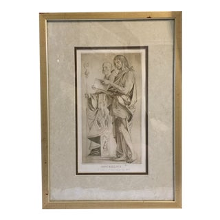 1770 Antique Giovanni Bellini Mezzotint Print For Sale