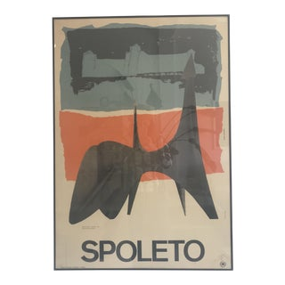 1962 Vintage Calder Spoleto Print For Sale