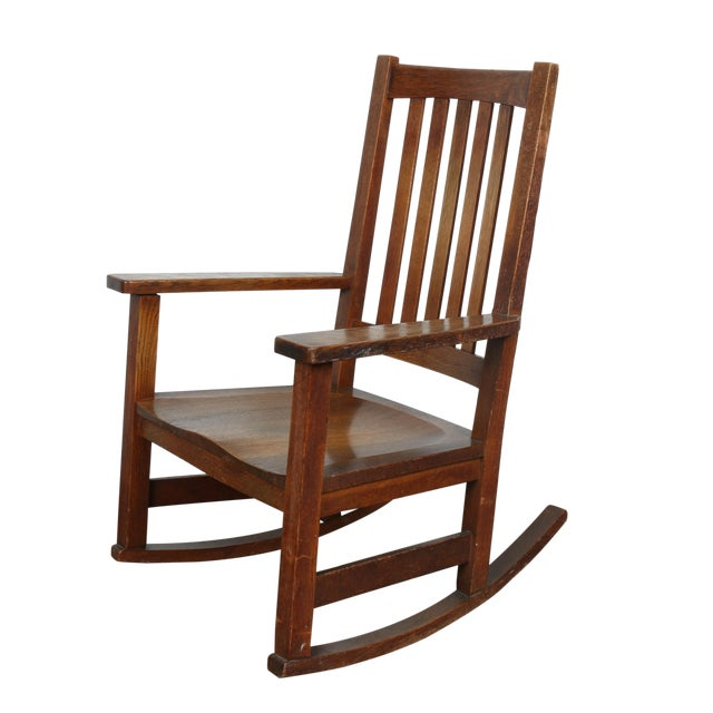 Stickley Oak Rocking Chair - Image 1 of 11